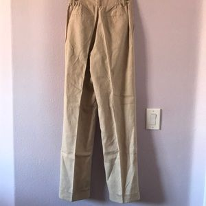 Chadwicks Pants - Vintage new cream Chadwick's linen/cotton pants
